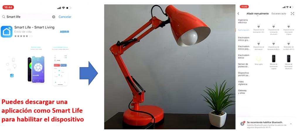 habilitar Luz Inteligente con Smart Life