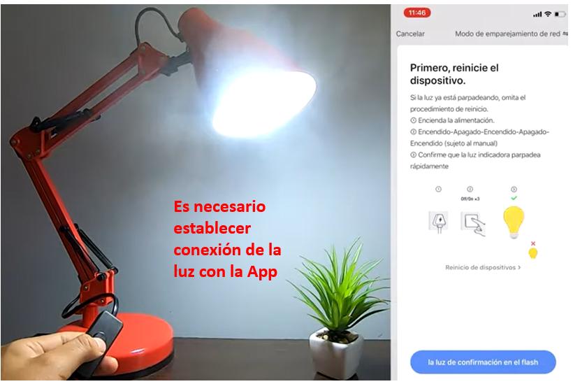 Habilitar Luz Inteligente en App